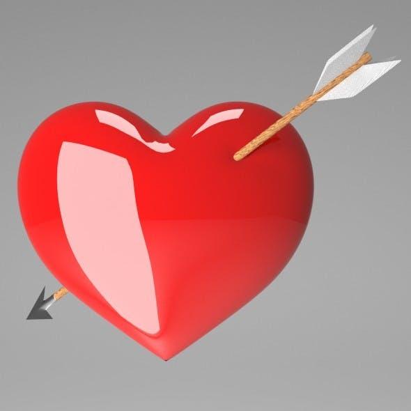 Heart with Arrow - 3DOcean Item for Sale