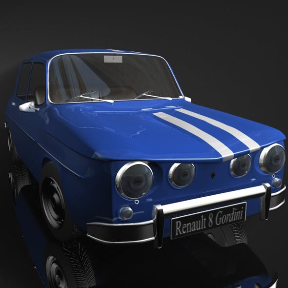 Renault 8 Gordini 3D - 3DOcean Item for Sale