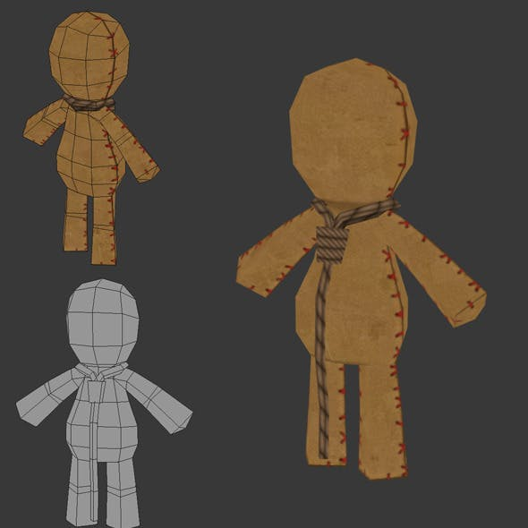 Low Poly Rag Doll