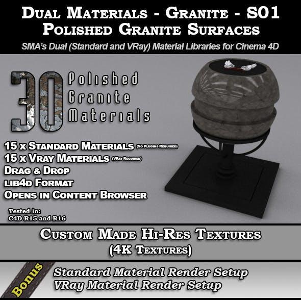 Dual Materials - Granite - S01 - Polished Granite - 3DOcean Item for Sale