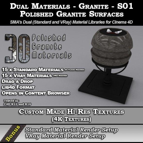 Dual Materials - Granite - S01 - Polished Granite