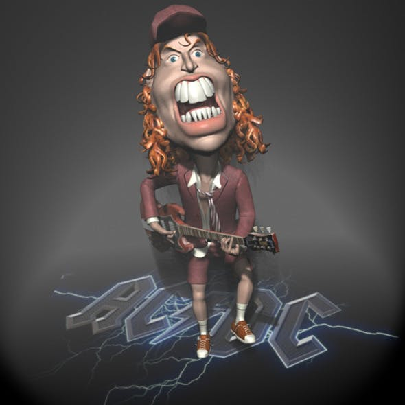 Angus Young Character toon RIGGED