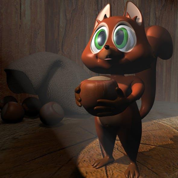 Cartoon Squirrel RIGGED