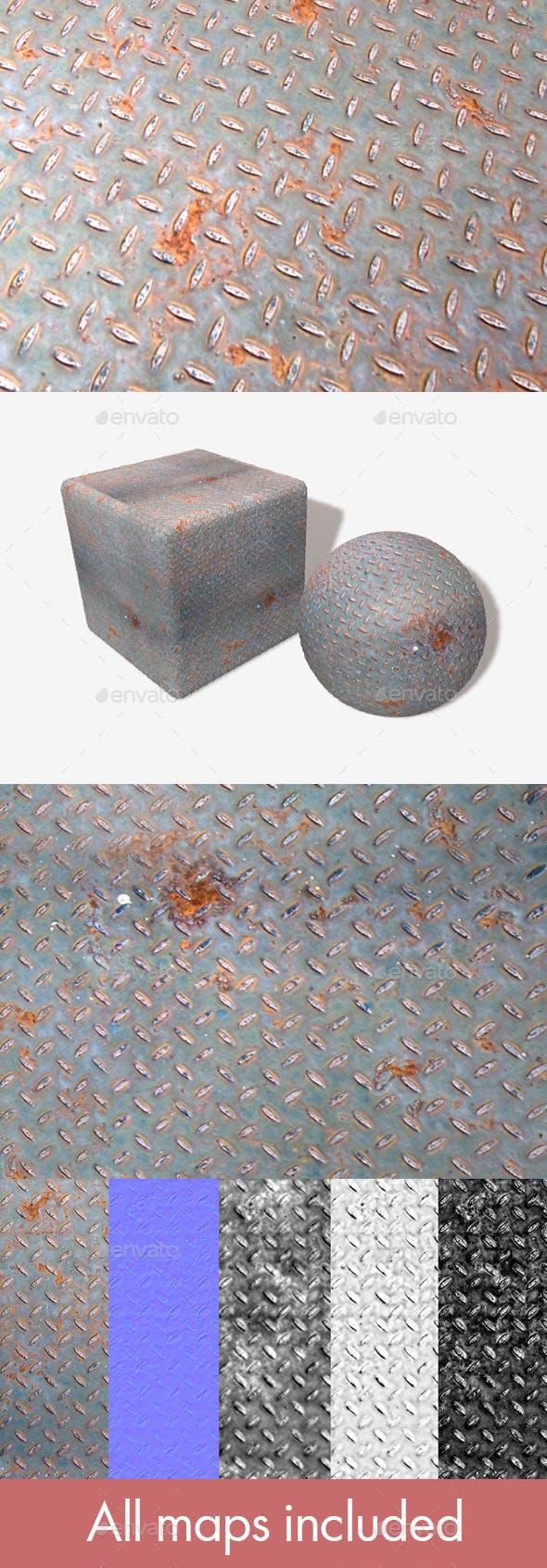 Rusty Metal Grid Seamless Texture - 3DOcean Item for Sale