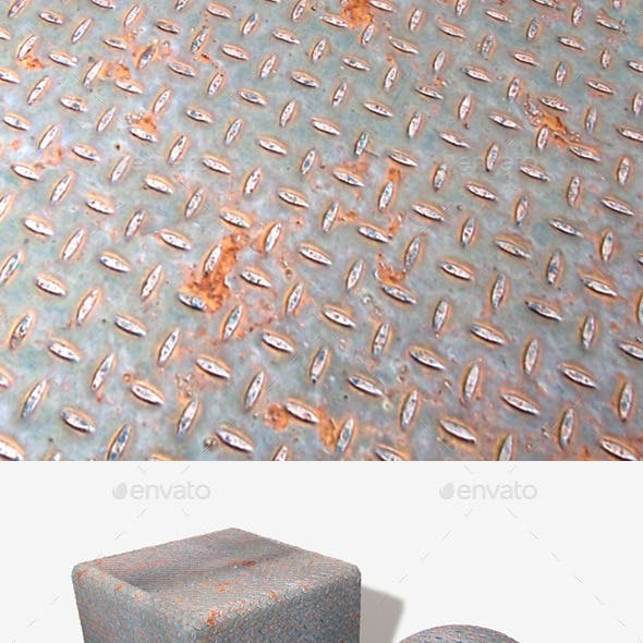 Rusty Metal Grid Seamless Texture