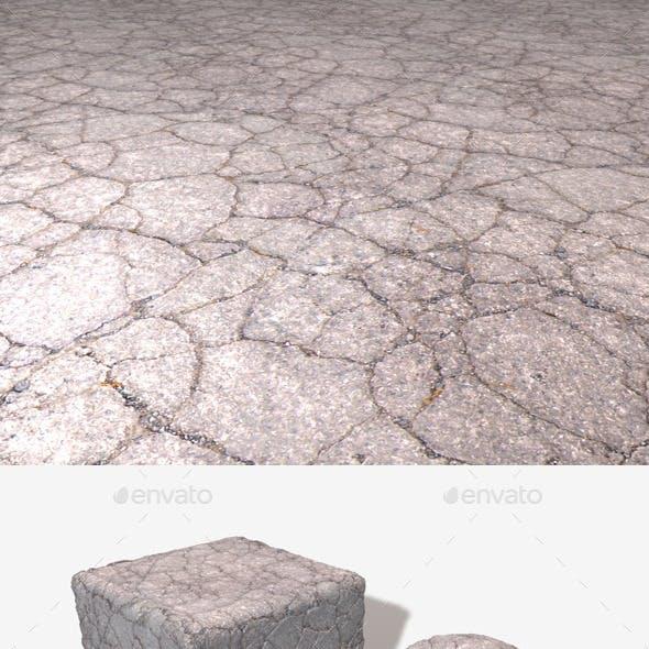 Cracked Tarmac Seamless Texture.