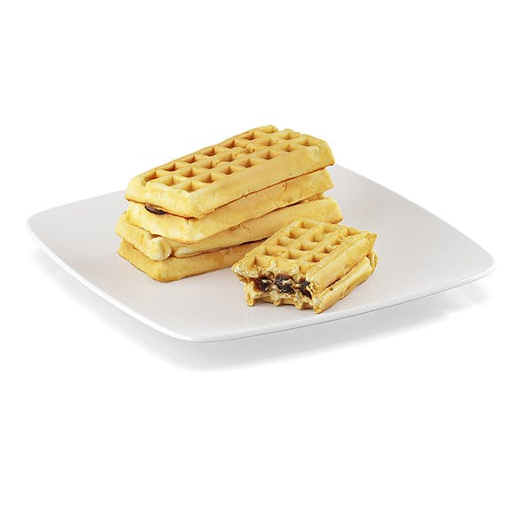 Waffles with filling - 3DOcean Item for Sale