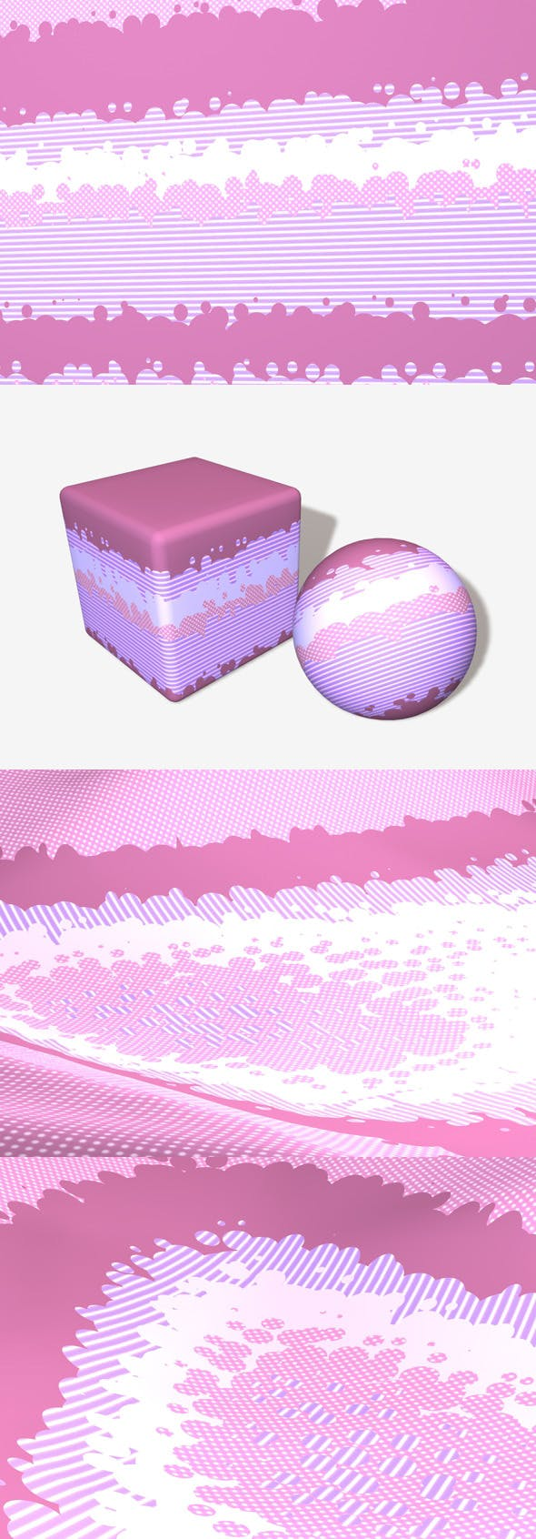 Animated Pink Pop Art Material - 3DOcean Item for Sale