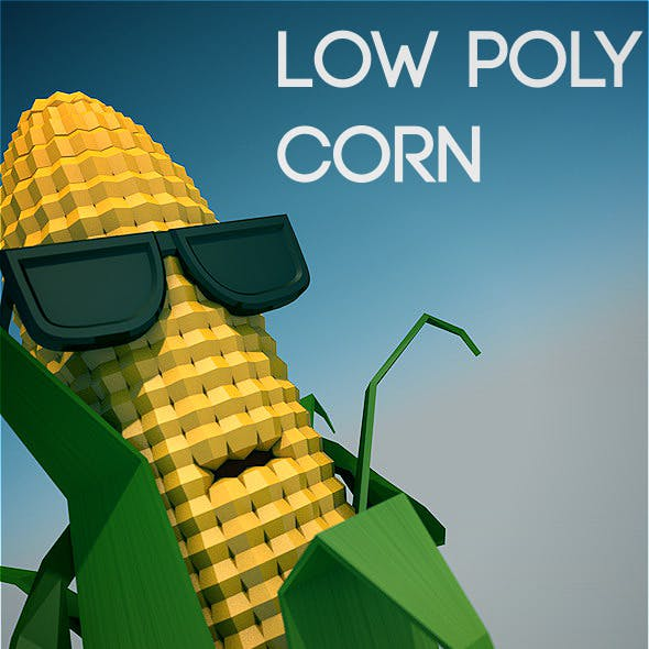 Low poly corn character