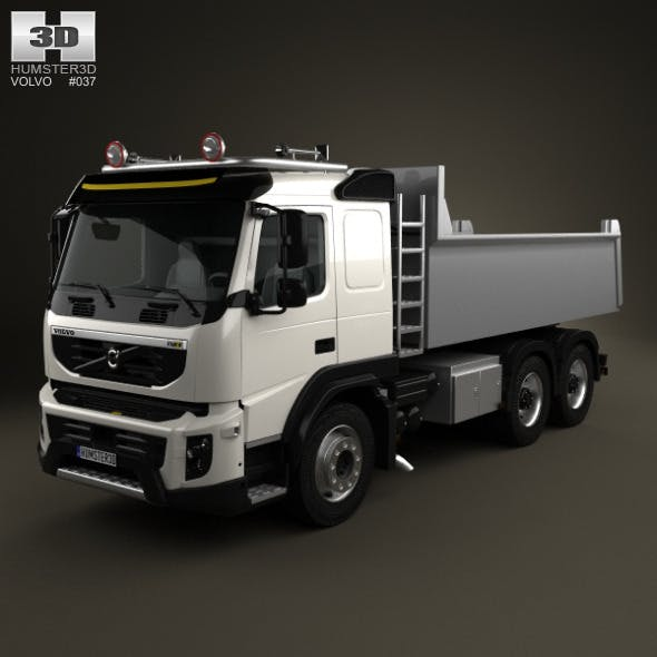 Volvo FMX Tipper Truck 2010 - 3DOcean Item for Sale