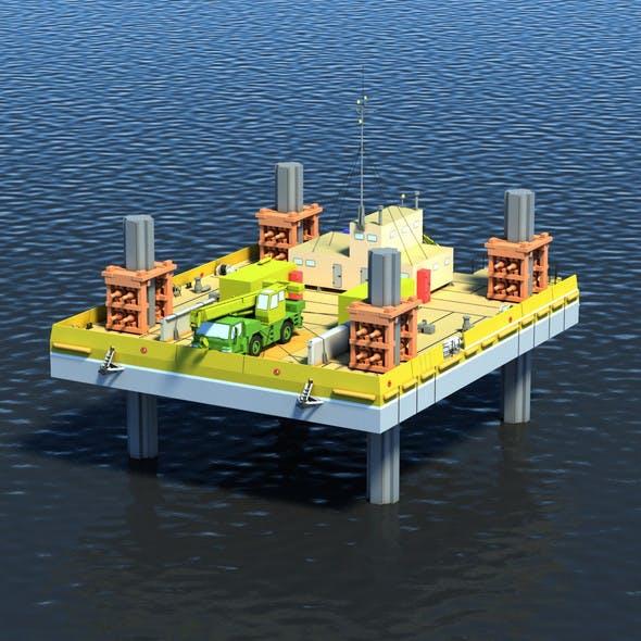 Drilling Platform - 3DOcean Item for Sale