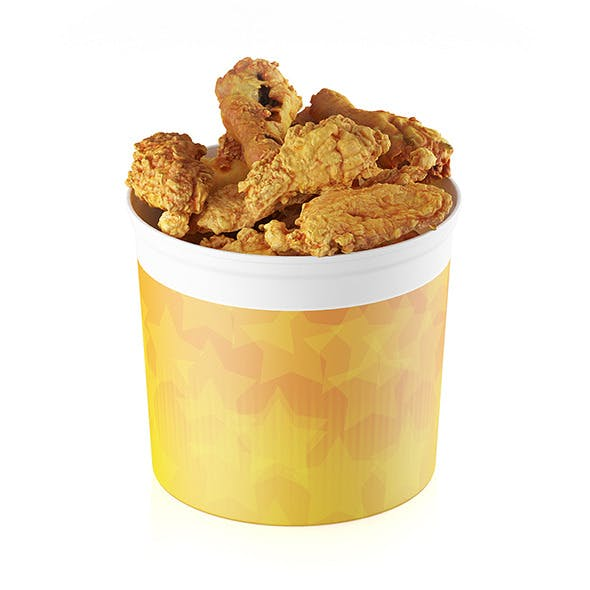 Fried chicken bucket - 3DOcean Item for Sale