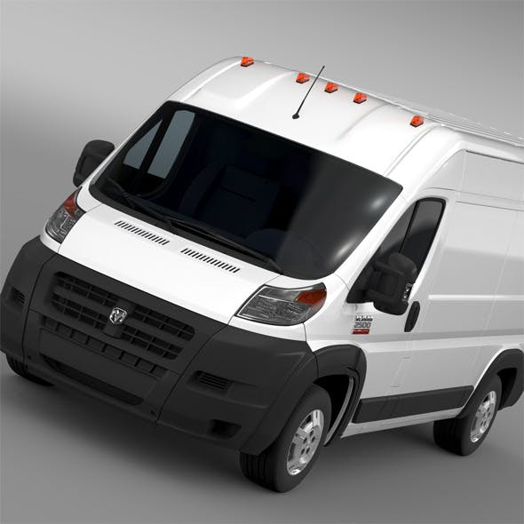 Ram Promaster Cargo 2500 HR 136WB 2015 - 3DOcean Item for Sale