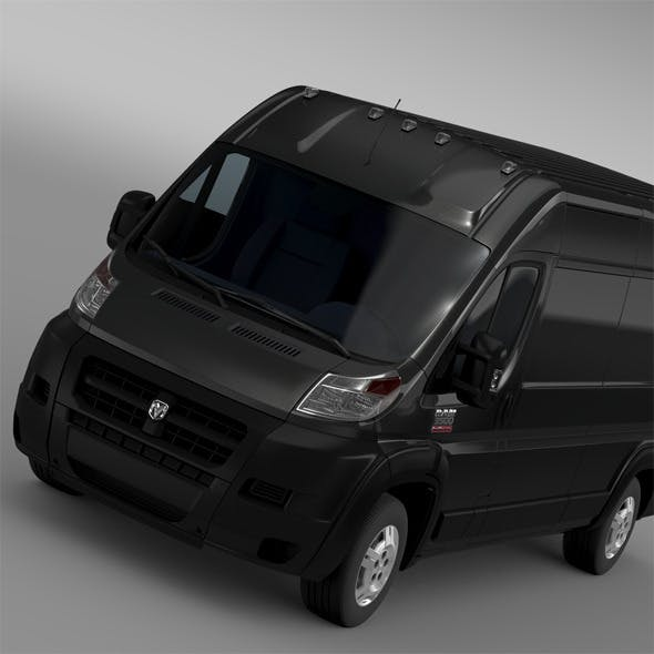 Ram Promaster Cargo 3500 HR 159WB EXT 2015 - 3DOcean Item for Sale