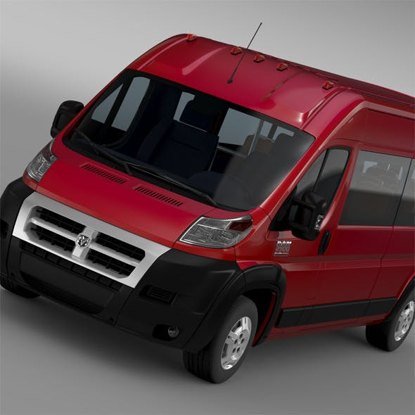 Ram Promaster Window Van 2500 HR 159WB 2015 - 3DOcean Item for Sale