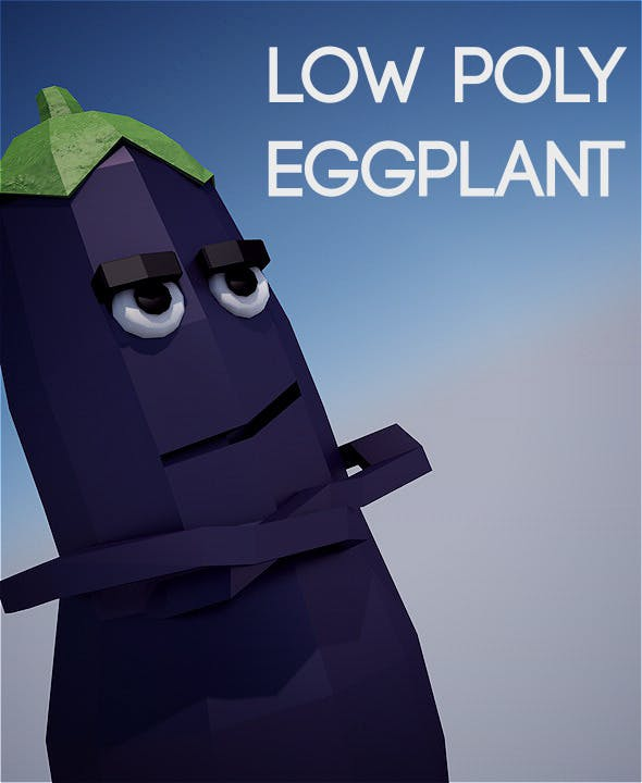 Low poly eggplant - 3DOcean Item for Sale
