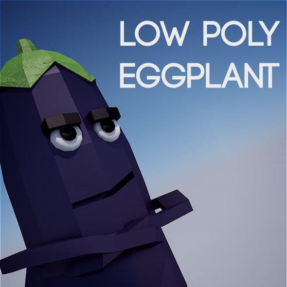 Low poly eggplant