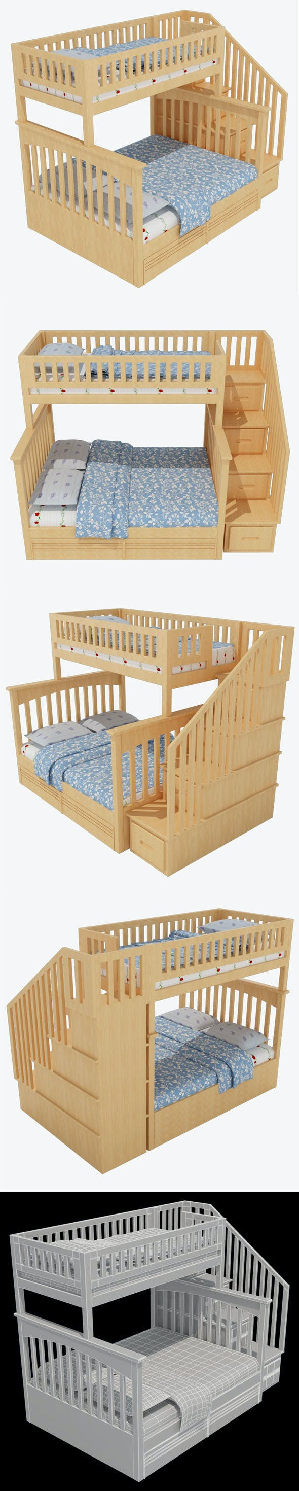 Child Bed_2 - 3DOcean Item for Sale