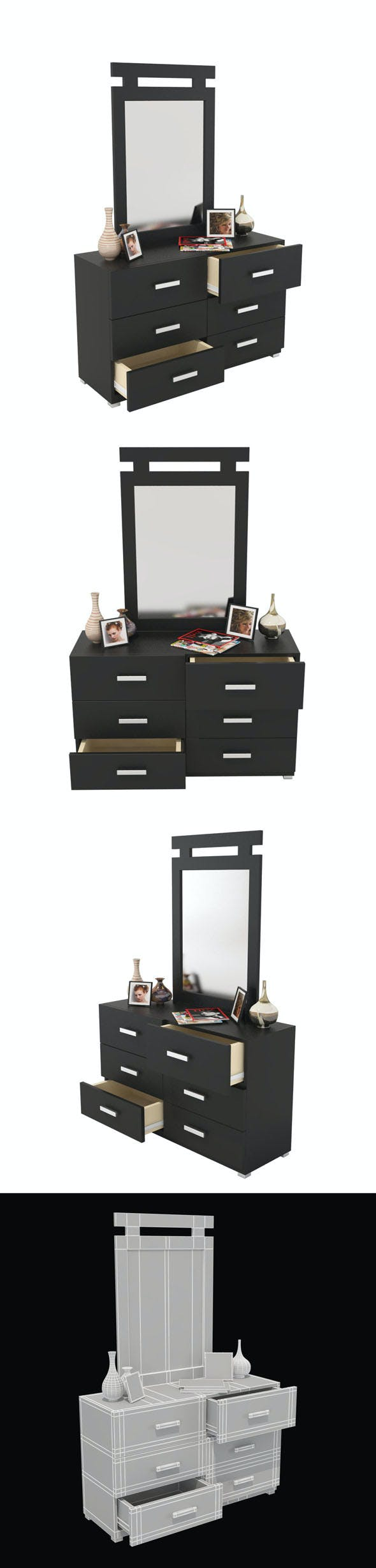 Dressing Table_1 - 3DOcean Item for Sale
