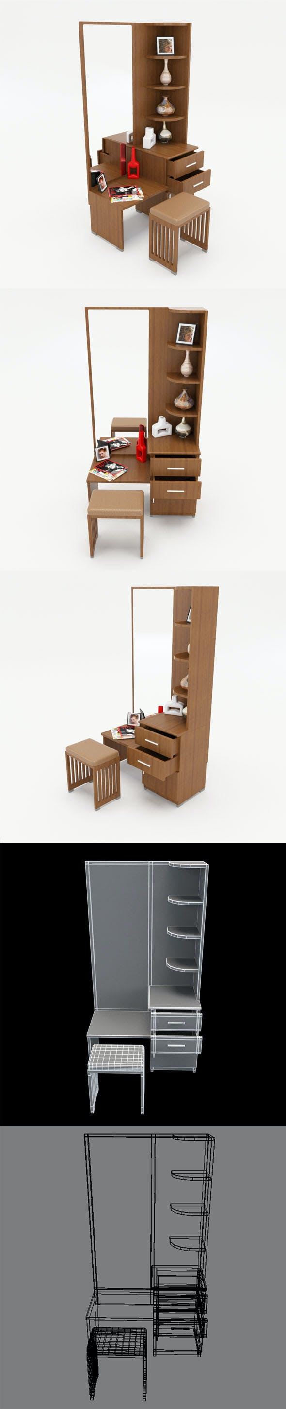 Dressing Table_2 - 3DOcean Item for Sale