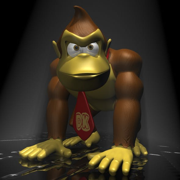 Donkey Kong RIGGED - 3DOcean Item for Sale