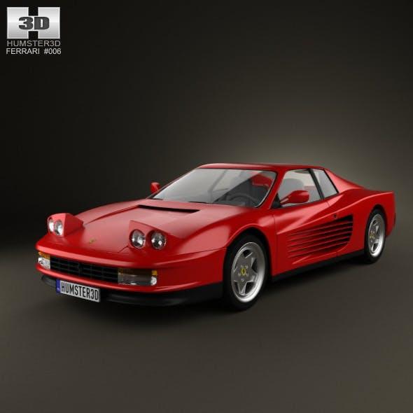 Ferrari Testarossa 1986 - 3DOcean Item for Sale