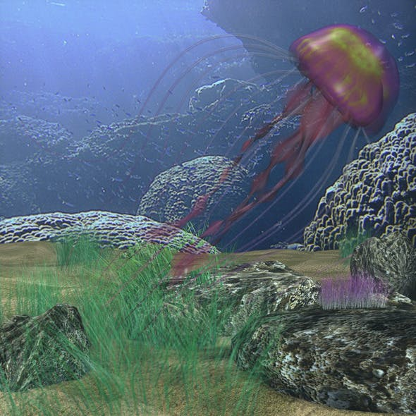 Jellyfish rigged