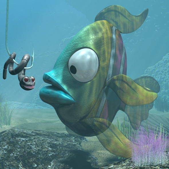 Cartoon Exotic Fish RIGGED - 3DOcean Item for Sale