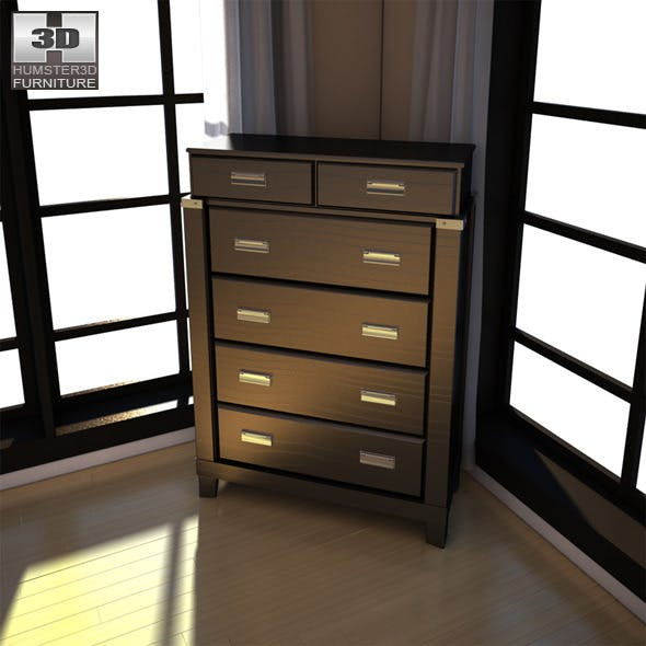 Ashley Diana Chest - 3D Model. - 3DOcean Item for Sale