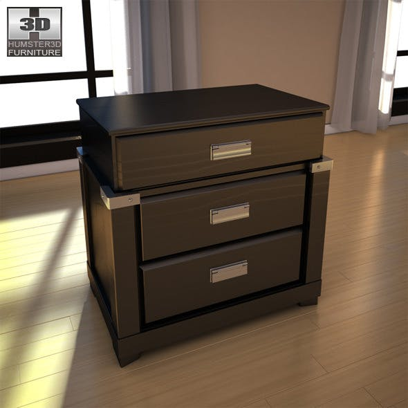 Ashley Diana Nightstand - 3D model. - 3DOcean Item for Sale