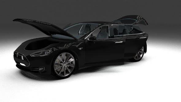Tesla Model S with interior - 3DOcean Item for Sale