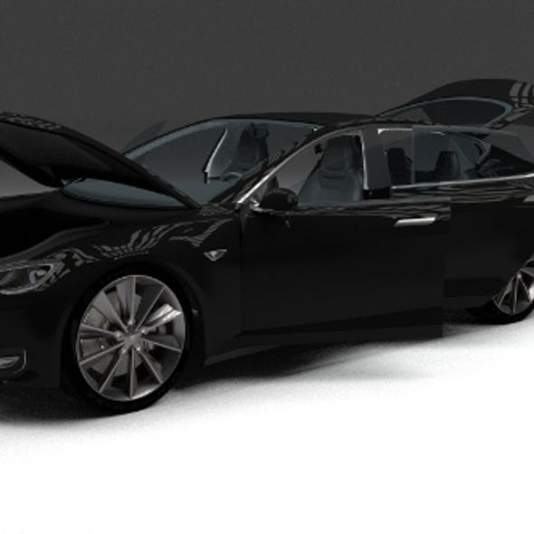 Tesla Model S with interior