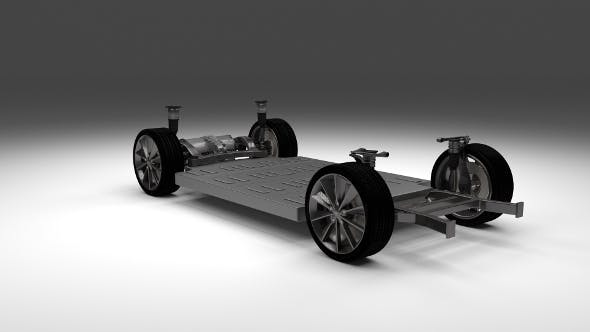 Tesla Model S Chassis - 3DOcean Item for Sale