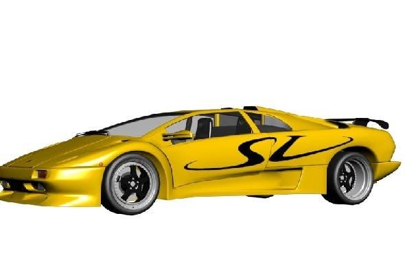 Lamborghini Diablo SV  - 3DOcean Item for Sale