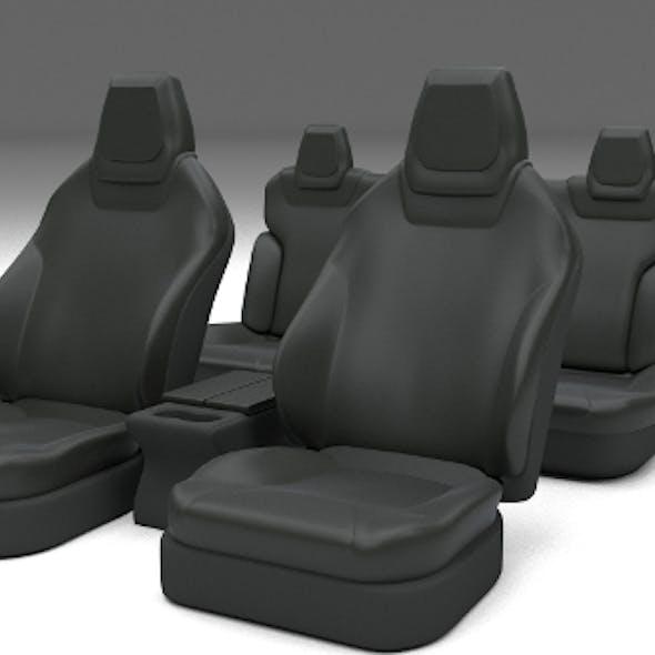 Tesla Model S Seats Dark