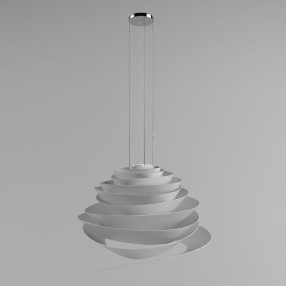 Hanging Spiral Rose Lamp