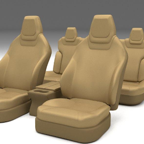 Tesla Model S Seats Cream