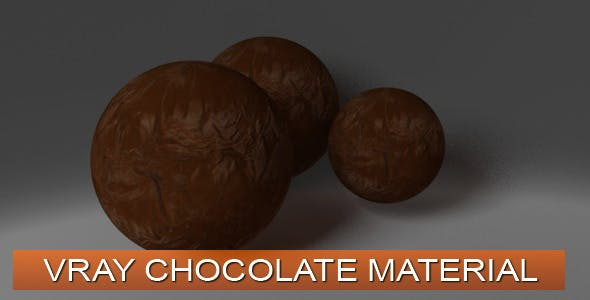 Chocolate VRay Material - 3DOcean Item for Sale