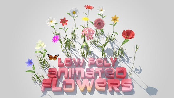 Animated Flowers Set - 3DOcean Item for Sale