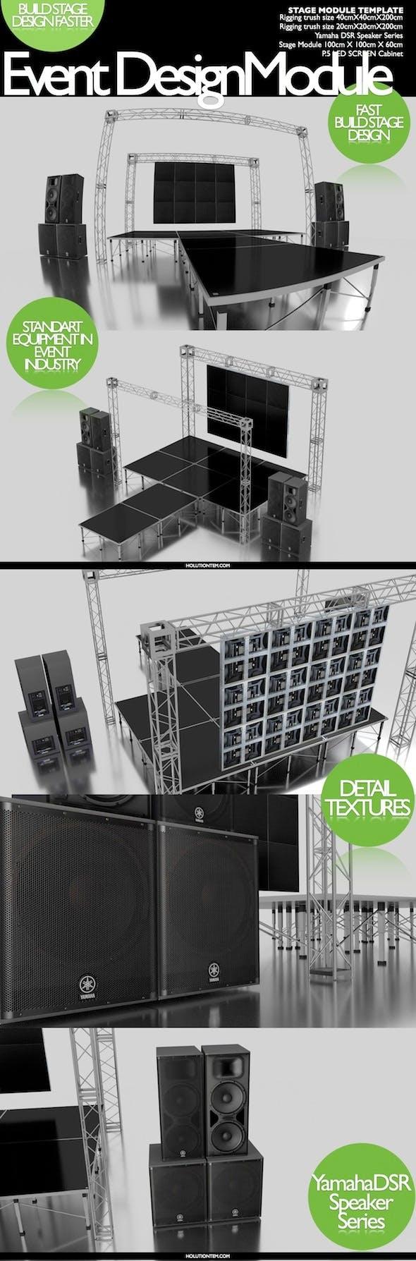 stage set design module - 3DOcean Item for Sale