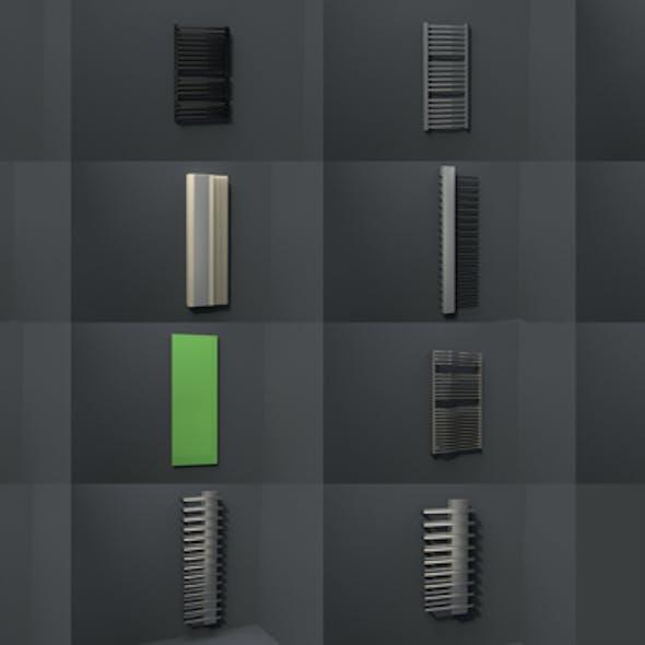 Bathroom radiators heating blocks collection