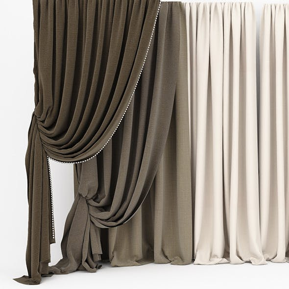 Curtain collection 06 - 3DOcean Item for Sale