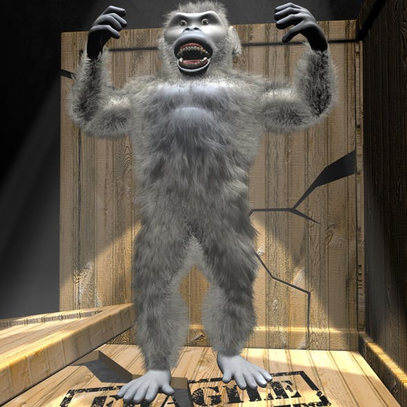Yeti Character RIGGED - 3DOcean Item for Sale