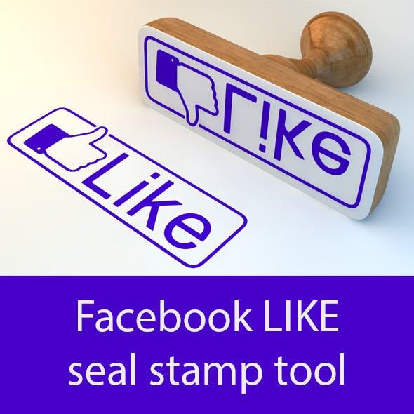 Facebook LIKE seal stamp tool.