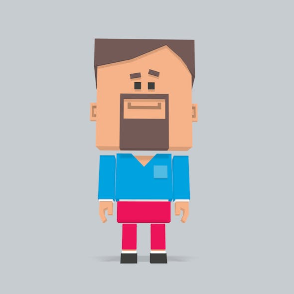 3D Square character