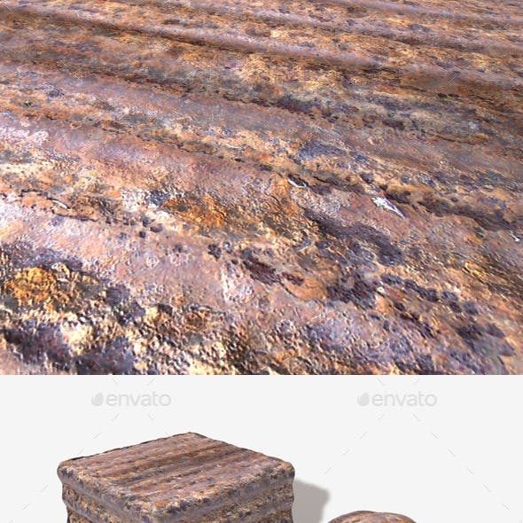 Rusty Sheet Metal Seamless Texture