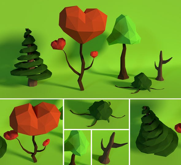 LowPoly Trees .Pack9 - 3DOcean Item for Sale