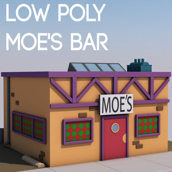 Low poly Moe's bar