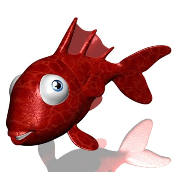 Cartoon Goldfish Rigged