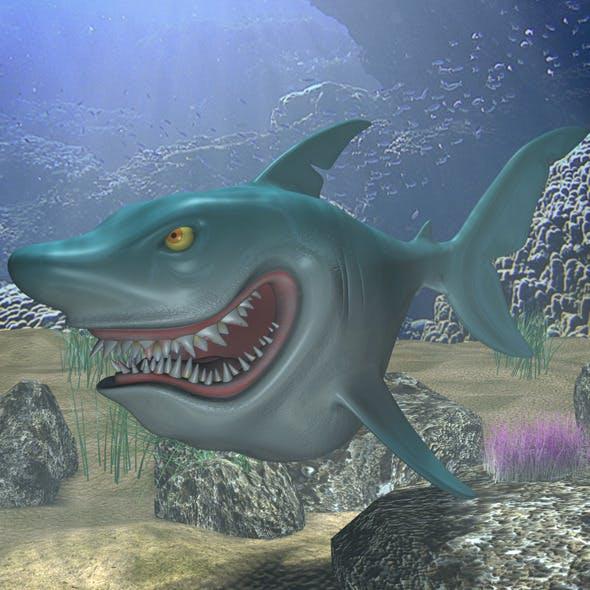 Cartoon Shark Rigged - 3DOcean Item for Sale